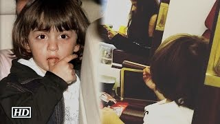 Lil AbRam celebrates his Birthday on plane | Watch Video