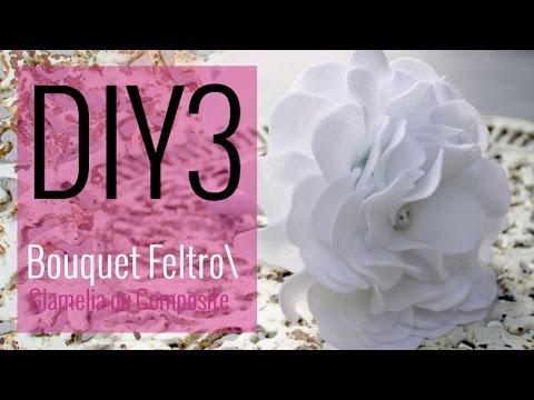 [DIY 3- CASAMENTO] COMO FAZER: Bouquet de Noiva com Flor de Feltro