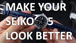 getlinkyoutube.com-Make Your Seiko 5 Look Better With Simple Things (Straps, etc) - SNKK87, SNKL07, SNZH53K1, SNKM65