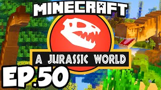 getlinkyoutube.com-Jurassic World: Minecraft Modded Survival Ep.50 - T-REX DINOSAURS BATTLE!!! (Rexxit Modpack)