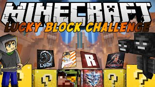 getlinkyoutube.com-Minecraft Challenge: Lucky block vs Wither boss - w/ Lyon e molti altri