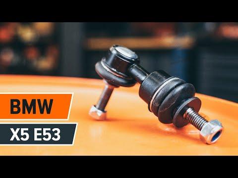 Как да сменим Предна стойка на стабилизатор наBMW X5 E53 (Инструкция)