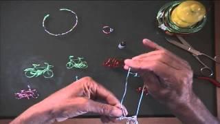 getlinkyoutube.com-Bicicleta de alambre para colgar hecha a mano