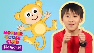getlinkyoutube.com-Five Little Monkeys | Mother Goose Club Playhouse Kids Karaoke