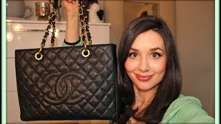 getlinkyoutube.com-What's in my Chanel Grand Shopping Tote & Review