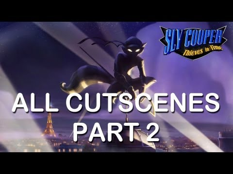 "Sly Cooper Thieves in time All cutscenes part 2 PS3 PS Vita HD ""sly cooper 4 all cutscenes"""