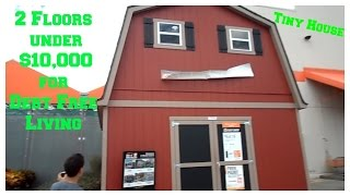 getlinkyoutube.com-Under $10,000 2 Floor Shed House For Debt Free Living ~No Upgrades