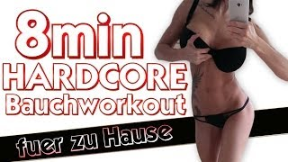 getlinkyoutube.com-8 Minuten Hardcore Bauchmuskel Workout / Sixpack Training für zu Hause