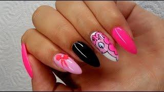 getlinkyoutube.com-Manicure hybrydowy Pinkie Pie Nail art