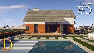 MINECRAFT PORADNIK - Jak zbudować: modern house z basenem [#5]