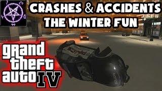 getlinkyoutube.com-Grand Theft Auto 4 (GTA IV / 4) - Crashes & Accidents 3.0 - The Winter Fun