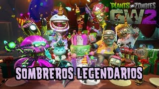getlinkyoutube.com-Plants vs Zombies: Garden Warfare 2. ¡TODOS los sombreros LEGENDARIOS!