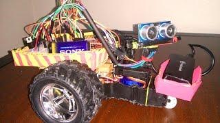 getlinkyoutube.com-TM4C123GXL/ HCSR04/ Tiva C Series Launchpad - Obstacle avoiding robot