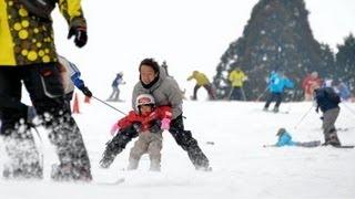 六甲山人工スキー場がオープン