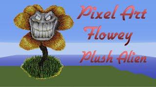 getlinkyoutube.com-Minecraft Pixel Art SpeedBuild | Flowey | Undertale