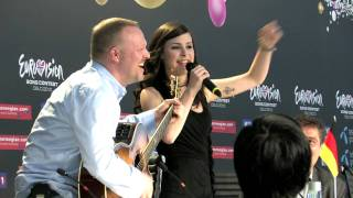 HD Lena singing about German accent - Fun with Lena the winner of Eurovision 2010