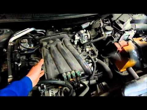 Nissan Qashqai. Компьютерная диагностика, проверка клапанных зазоров.