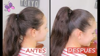 getlinkyoutube.com-Como Hacer una Cola Perfecta! - How to do the Perfect Ponytail | Peinados Fáciles y Rápidos | Tips