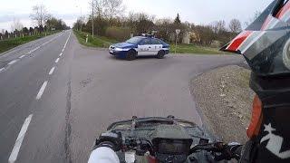 getlinkyoutube.com-Suzuki Kingquad 700 4x4 Fast police getaway