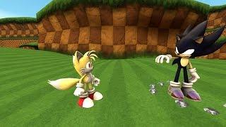 getlinkyoutube.com-Dark Super Sonic vs. Super Tails [SFM]