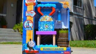 getlinkyoutube.com-2015 Thomas Wooden Railway BUBBLE LOADER Destination By Mattel Fisher Price