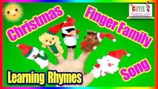 getlinkyoutube.com-Christmas Finger Family Song   Christmas Toys Finger Family   Santa, Snow Man, Elk, Penguin and Bear