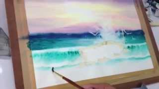 getlinkyoutube.com-How to paint sea in watercolor 2