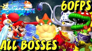 Super Mario Sunshine HD - All Bosses (No Damage) 1080p/60fps