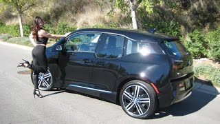 """getlinkyoutube.com-New 2017 BMW i3 Rex / Around 180 mile range / 20"""" Wheels / BMW Review"""