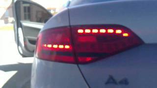 getlinkyoutube.com-Audi A4 B8 LED NA Taillights to Euro Conversion
