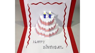 getlinkyoutube.com-Happy Birthday Cake - Pop-Up Card Tutorial