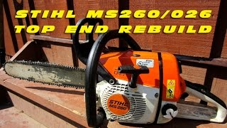 getlinkyoutube.com-Top End Rebuild On Stihl MS260 Chainsaw With Force-Tec Cylinder Kit