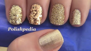 getlinkyoutube.com-Gold Glitter Nails