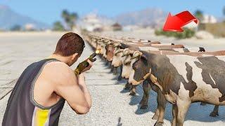 getlinkyoutube.com-¿Cuantas balas para matar a 100 Vacas en GTA 5? - GTA V (Grand Theft Auto 5)