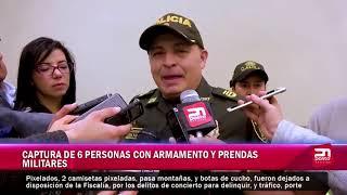 CAPTURA DE 6 PERSONAS CON ARMAMENTO Y PRENDAS  MILITARES