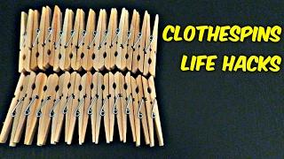 6 Clothespins Life Hacks