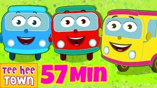 getlinkyoutube.com-Wheels On The Bus Go Round And Round | Learn Colors | Popular Nursery Rhymes by Teehee Town