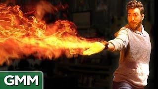 getlinkyoutube.com-Mini Flamethrower Demo (Real Avatar Firebending)