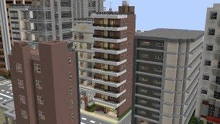 【約3分でわかる】都会風ワンルームマンション作成講座【Minecraft】