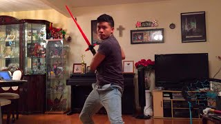 getlinkyoutube.com-Kylo Ren Basic Lightsaber Bladebuilders Demonstration
