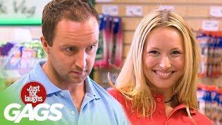 getlinkyoutube.com-Sexy Seducing Cashier - Just For Laughs Gags