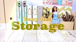 getlinkyoutube.com-DIY - How to Make: Easy Doll Storage | Plus Doll Storage Tips - Handmade - Crafts - 4K