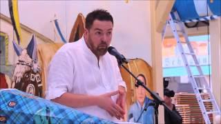 Kabarettist André Hartmann im Hackerzelt - Oktoberfest-Maßkrug-Präsentation 2015 (Video: Gerd Bruckner)