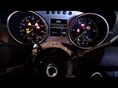 Датчик угла поворота руля. steering angle sensor. ml320. esp. работает после ремонта
