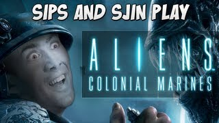 getlinkyoutube.com-Aliens: Colonial Marines with Sips and Sjin