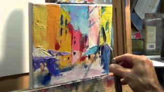 getlinkyoutube.com-How to Oil Paint: Tips, tricks with the palette knife
