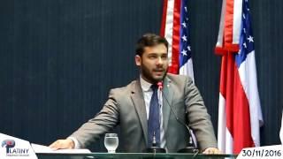 Em Plenário: Deputado Platiny Soares defende os direitos dos Policiais Militares do Amazonas.