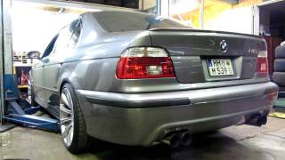 getlinkyoutube.com-Part 1/2 - BMW E39 M5 Reuter S (85dB) Exhaust Sound without X-Pipe