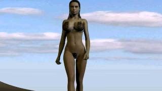 getlinkyoutube.com-Girl on the Beach - Animation in Poser Pro