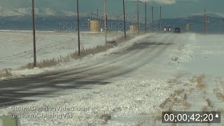 getlinkyoutube.com-Icy Roads and blowing snow cause several cars to crash in Evans, CO 11/11/2015